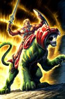 He-man and Battlecat by JPRart