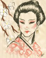 My hard hard work - Geisha by djinn-world