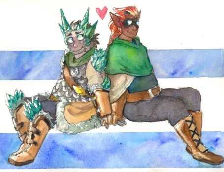 Comm 2/2 for Gomis - Enki and Tephra by ghostflannel