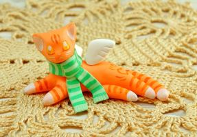 Winged Ginger Cat by Ailinn-Lein