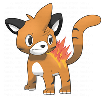 Flaming Tiger Cub Auction OVER by Snivy101