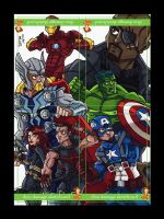 PSC Puzzle 01 Avengers (movie) by dino-damage