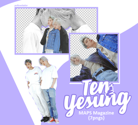 Ten, Yesung - MAPS Magazine {png} by pollovolador