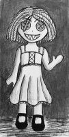 Forgotten toys: Creepy Doll by Echos-in-the-Shadows
