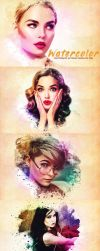 Watercolor Photoshop PSD Template by symufa