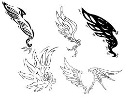 Tatoo design - wings by Pepius