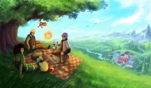 Pokemon Picnic - Commission