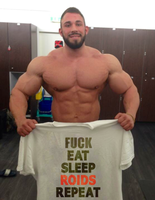 Fuck Eat Sleep Roids Repeat by resonancegym