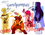 (SU) Gem Adoptables: 1/4 OPEN by MrsDrPepper