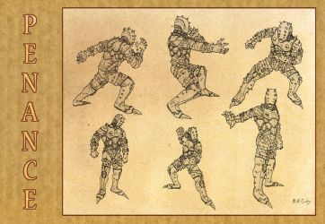 Penance: Model Sheet 2 by theconti
