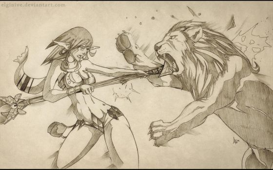 Versus Lion by elginive