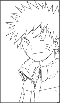 Naruto lineart by Nimrd