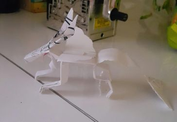 Papercraft Dragon 2 by HellenTheDevil