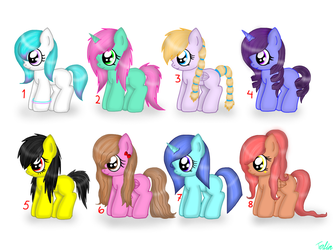Filly Adoptables! Open! by CoolAdoptables