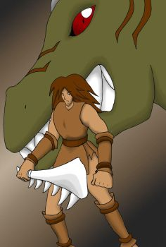 Cave Guy, Colored by Superrobofan