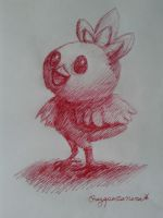 One colored pen challenge - Torchic by Rayquazanera