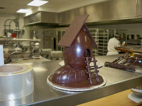 Chocolate Egg house by The-Ice-Youkai