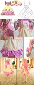 Fluttershy Lolita Inspired Close Up by Antiquity-Dreams