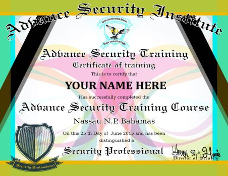 Certificate Design for the Advance Security by m0osegirlhunter
