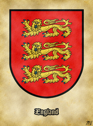 Arms of England by Undevicesimus