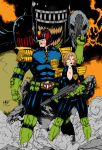 Judge Dredd And Judge Anderson By Leomatos2014 by Kenkira