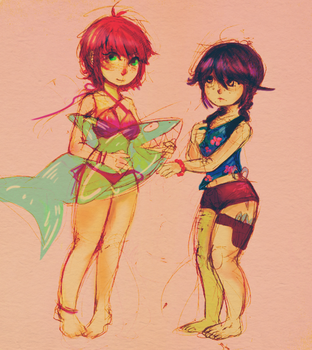 Beach Babes by OmfgaShineko