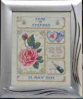 Anniversary Sampler by VickitoriaEmbroidery