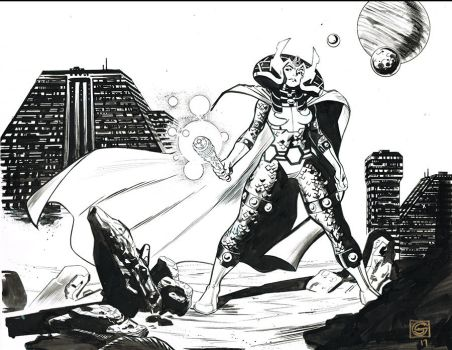 Big Barda by Stephen-Green
