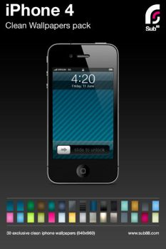 30 iPhone 4 wallpaper pack by sub88