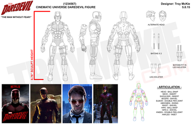 Marvel Legd-Style - MCU Daredevil Sculpt Drawings by thedream86