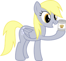 Derpy with the MagicMuffin in the tin by Darknisfan1995