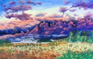 Sunrise Beyond the Tetons by VoiceInForestShadow