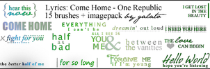 15 Brushes: Come Home lyrics by galato