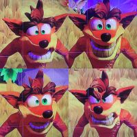 Crash Bandicoot expressions by CarameliaBriana