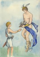 Perseus and Hermes by AnotherStranger-Me