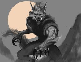Sketch werewolf card by dante2906
