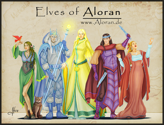 Elves of Aloran by Iphis
