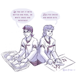 Leif and Katya - cooking together by ErinPtah