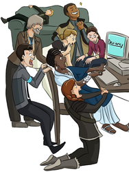 Detroit Become Human Draw the Squad by TheGlacierAlliance