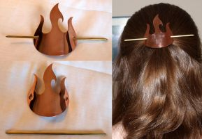Fire Nation Hair Piece by blood4dream