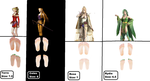 Foot Size Chart: Final Fantasy Ladies of 4 and 6 by 3DFootFan