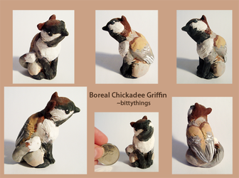 Boreal Chickadee Griffin - SOLD by Bittythings