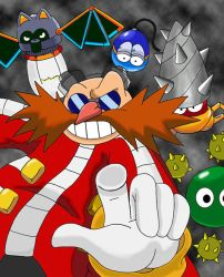 Eggman and his robots by Teejii