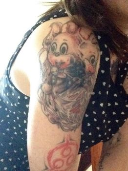 Robbie the Rabbit Tattoo by Lilmissandrea89