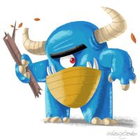 Blue Monster by marciolcastro