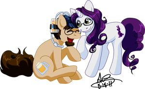 Pony Nuzzles by alex-heberling