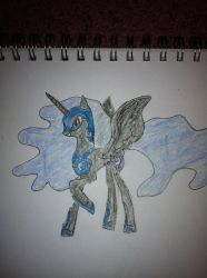 Drawing-Of-The-Day,10/16/12,Nightmare Moon by goodleygirl