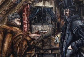 Don't Shoot. They'll misfire. ACEO by Glasberg
