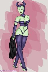 [Request] Maleficent Pinup by DIGITALBREAKOUT