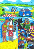 Art Trade: Day at the lake page 1 by Levvvar